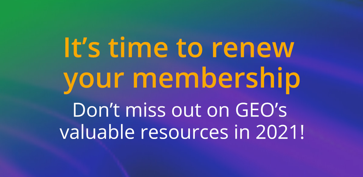 Renew Your GEO Membership