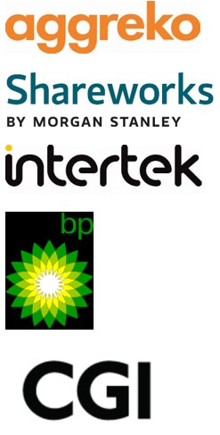 Aggreko, Shareworks by Morgan Stanley, Intertek, BP, CGI