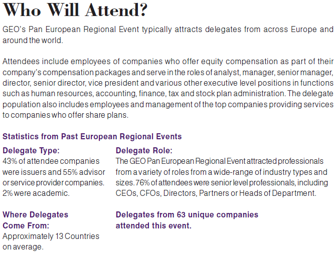 Who Will Attend the 2014 Pan European Regional Event