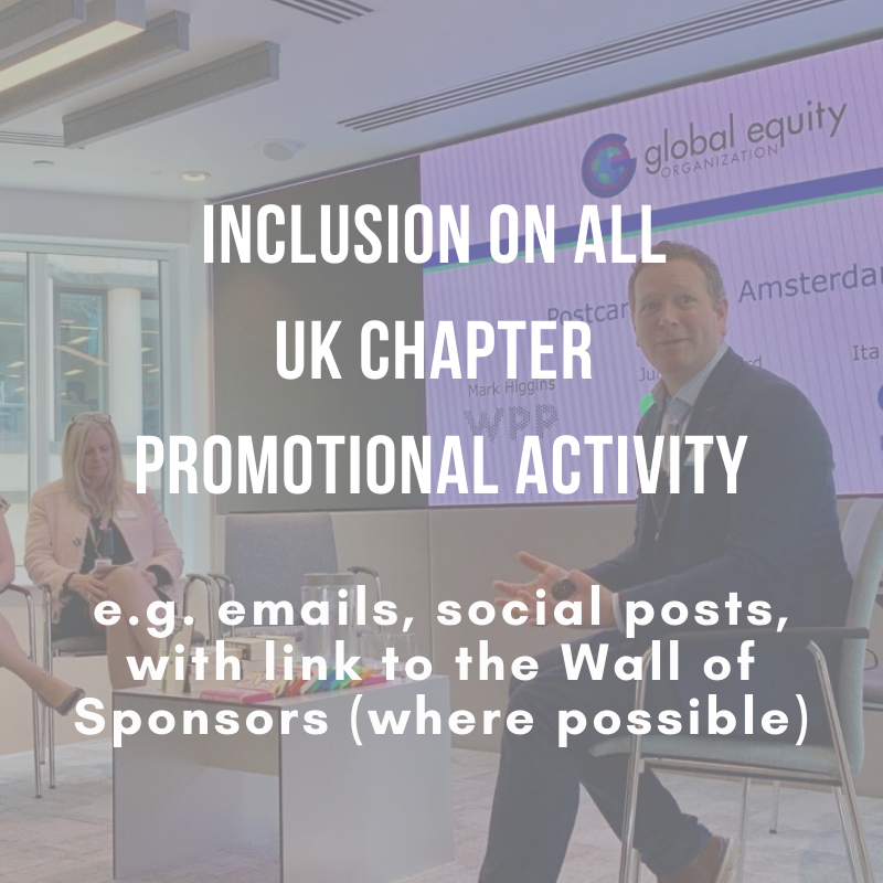 Inclusion on ALL UK Chapter promotional activity