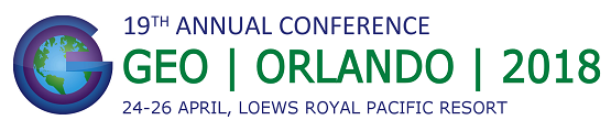 GEO's 19th Annual Conference, Orlando, Florida, 24-26 April 2018